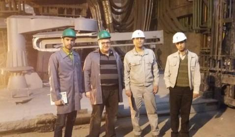 بازدید کارشناسان فنی شرکت فراماشین جهان گستر  از خط تولید کارخانه فولاد خراسان