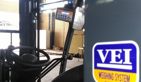 سیستم توزین VEI  بر روی لیفتراک